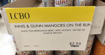 Image from Matt Harris via Twitter of Innis & Gunn Mangoes on the Run